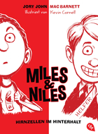 Buchcover Jory John und Mac Barnett: Miles & Niles - Hirnzellen im Hinterhalt
